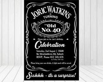 Personalized Liquor Invitation