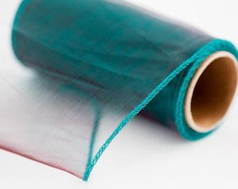 """Teal Green Organza Sheer Ribbon Wedding Decorative Ribbon 4.7"""" wide DIY Craft Ribbon Christmas Decor Ribbon Delicate Costume Sheer Ribbon"""