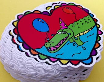 Crocodile Tears 10cm Vinyl Sticker