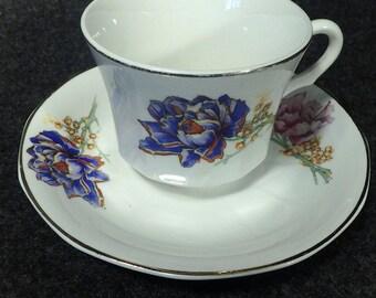 Teacup & Saucer ~ Vintage Floral