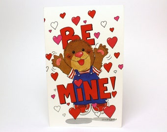 "Vintage 1992 Suzy's Zoo Valentine's Greeting Card ""Be mine! Fovever!"" - Ollie Marmot - by Suzy Spafford - Printed in U.S.A."