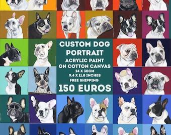 Benutzerdefinierte Hund Portrait / 24 x 30 cm