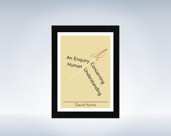 Philosophy art - David Hume - philosophical origami minimalistic print on paper or canvas up to A0 size inspired by a philosophy book