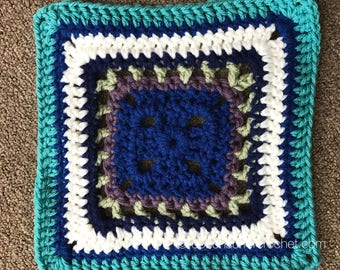 Granny Square Crochet Pattern / Treble Starburst Square Pattern / Crochet Pattern / Granny Square / Treble Crochet