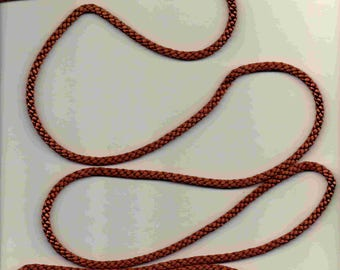 Brown satin cord (stranded 400) 4mm wide
