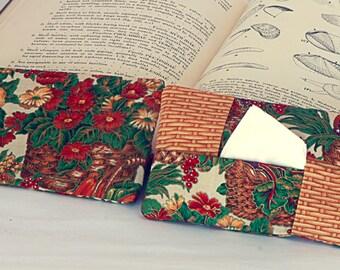 Tissue or Kleenex Holder. Cats and Basket Tissue keeper.  Basket theme.