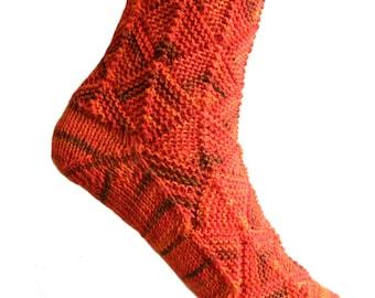 Fairytale socks Orange,  size EU 37/38  UK 5/5.5 US 7/7.5