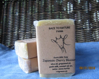 Handmade Japanese Cherry Blossom Goats Milk Soap