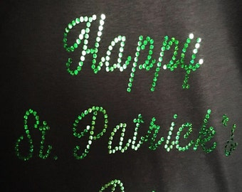 Happy St  Patrick's Day Holographic T-shirt