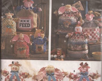"""Simplicity 9612  Feed Sack Dolls in 12"""", 15"""" and 20""""  Pattern Vintage 1995"""