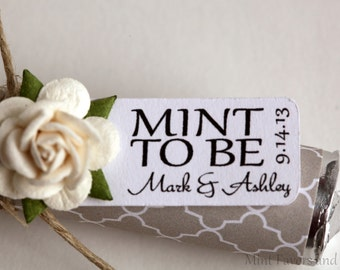 Custom favor tags with white rose embellishments