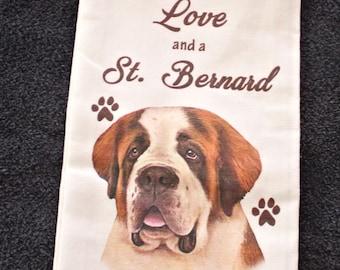 Saint Bernard Dog Breed Cotton Kitchen Dish Towel