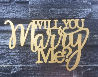 Will you marry me? Proposal Cake Topper