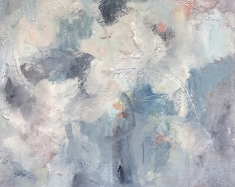 Winter Bouquet Abstract Oil Painting
