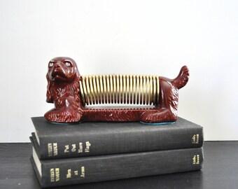 Vintage Ceramic Dog Letter Holder