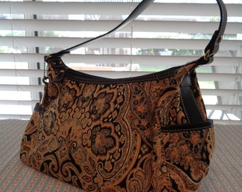 Vintage Fossil Tapestry Purse