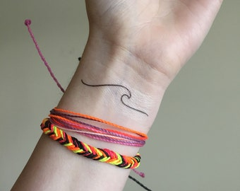 Ocean Wave Temporary Tattoo