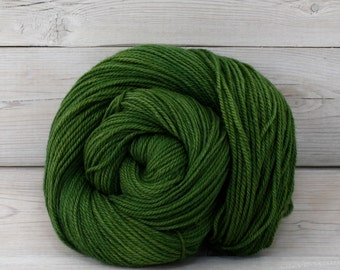 Zeta - Hand Dyed Polwarth Wool and Silk DK Sport Yarn - Colorway: Moss