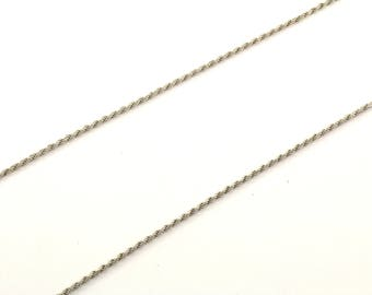 Vintage Italy Rope Chain Necklace 925 Sterling NC 1026