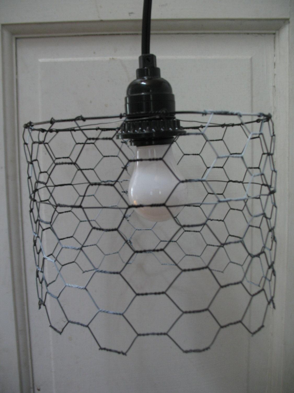 Positive/Negative Short Chicken Wire Lamp loft lamp chicken