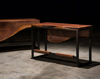 Larned Bench Walnut Liveedge Counter Bench