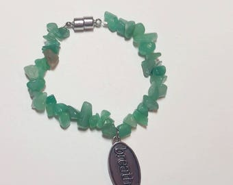 "Green Aventurine ""Breathe"" Bracelet"