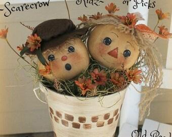 Primitive Scarecrow Pattern Scarecrow Kidz Ornies Pattern