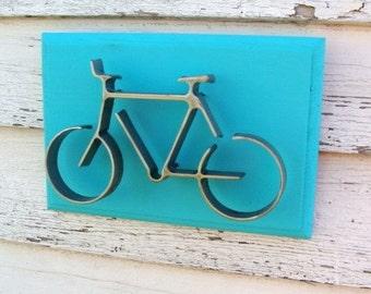 Bicycle Wall Decor, Metal Bicycle Art, Bicycle Wall Art, Modern Wall Art, Bike Art, Bicyclist Gift