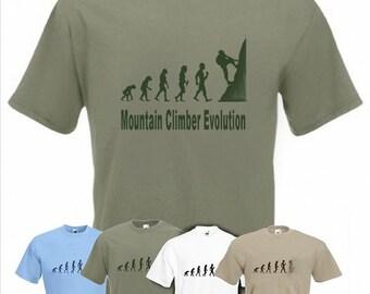 Evolution To Mountain Climber t-shirt Funny Climbing T-shirt sizes Sm TO 2XXL