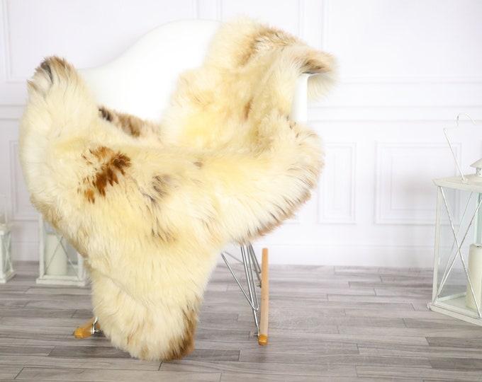 Sheepskin Rug | Real Sheepskin Rug | Shaggy Rug | Chair Cover | Sheepskin Throw | Brown Beige Sheepskin | Home Decor | #Apriher33