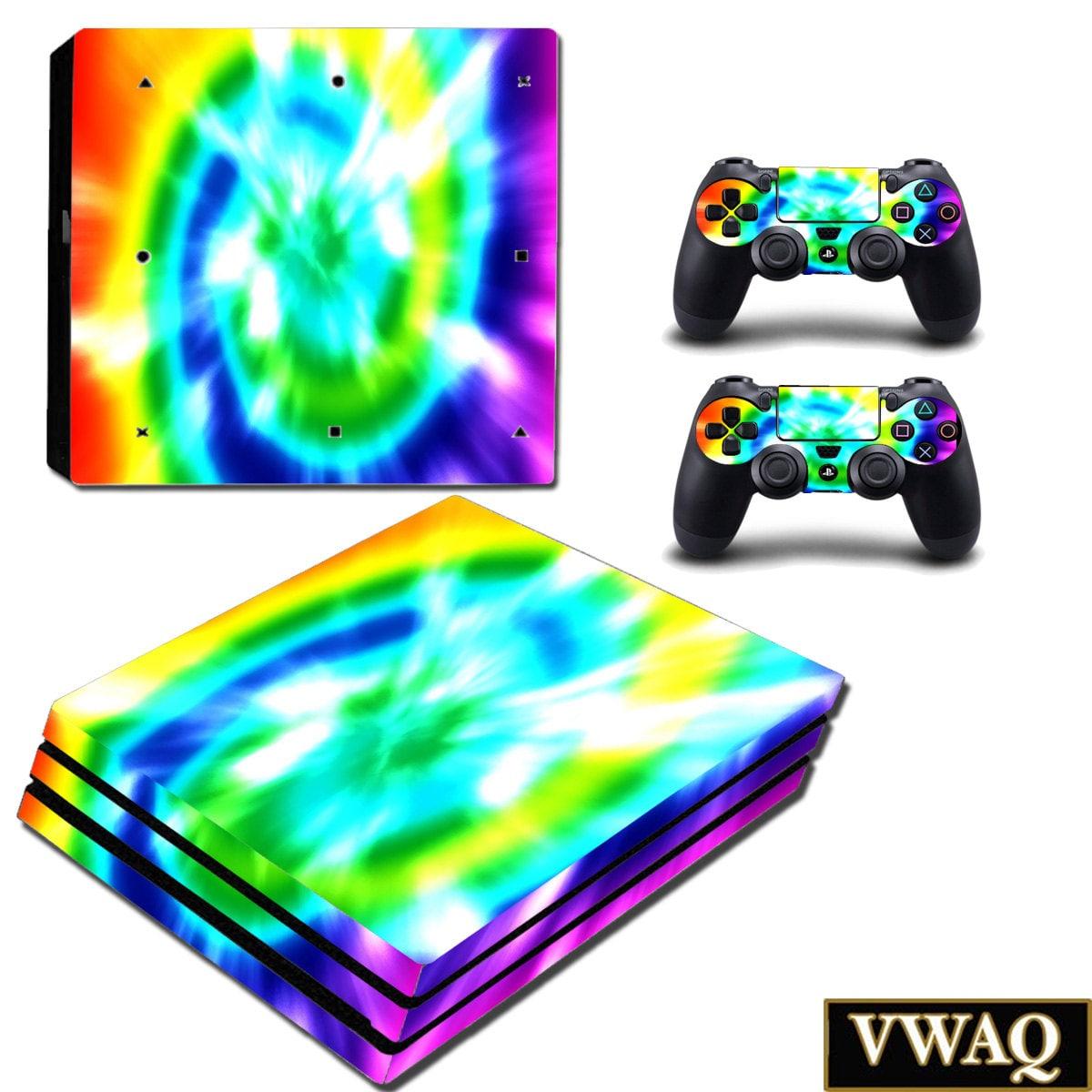 PS4 Pro Regenbogen-Haut-Konsole und Controller Tie Dye Haut