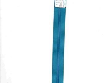 "Closure 30cm zipper""plastic"" non detachable blue"