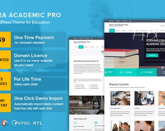 Rara Academic Pro WordPress Theme   Education and Academy
