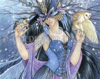 Twilight Fairie with Barn Owl Print