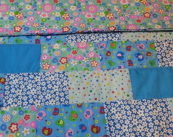 REDUCED Bright and Beautiful Child's  Quilt