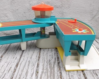 Vintage 1972 Fisher Price #996 Airport // BUILDING ONLY // Wear Stickers Missing Etc // Young Children's Toys