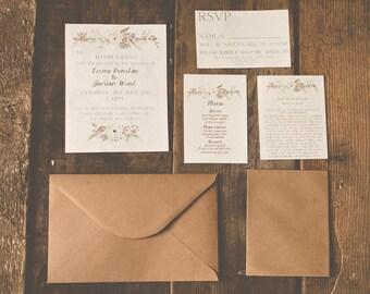 Customised Hand Painted Wedding Invitation