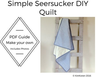 Quilt Tutorial PDF | Simple Easy Quilt | DIY Project | Beginner Sewing Project | Learn to Quilt | How to Quilt