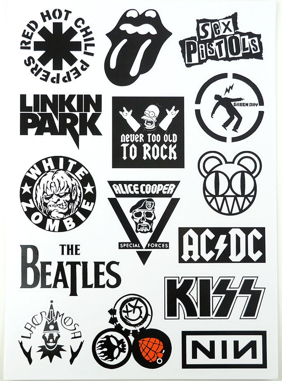 Old Band Stickers