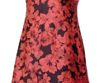 Vintage Red and Black Slip Dress