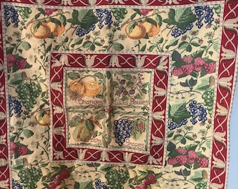 """Tapestry WallHanging 34 x 35"""" w Tab tops 4""""  Capisserie Tapestry Designs by Renaissance woven  Art New York"""