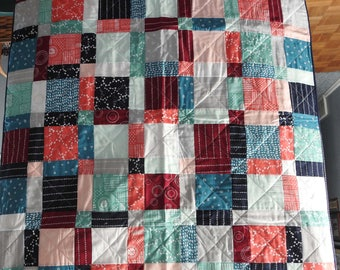 Trendy quilt in today's colors