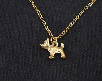 dog necklace, gold filled, gold schnauzer charm, scottie dog necklace, scotish dog, scottie dog,gold scottie pendant, scottie dog jewelry
