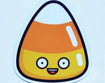 """Candy Corn Magnet / Halloween Magnets / Happy Candy / Food Magnet / Die-cut Magnet / Fridge Magnet (2.68"""" x 3"""")"""