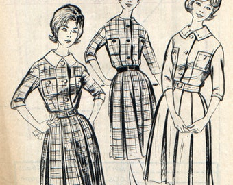 "Vintage dress, supplement to the magazine ""Modes de Paris"" pattern"