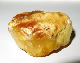 Natural Genuine White BALTIC AMBER stone 12.81gram