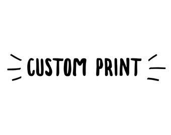 "Custom 8"" by 10"" Illustration"