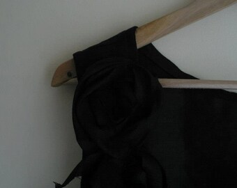 Black Linen Top/ Backless Top/ Alternative Bride To Be Outfit by NervousWardrobe on Etsy