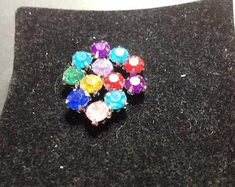 Colorful rhinestone beads