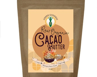 Raw Organic Cacao Butter all natural vegan friendly and gluten free for use in raw chocolate or baking cakes